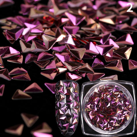 Image of Dome Triangle Sequins, 12 Jar Set