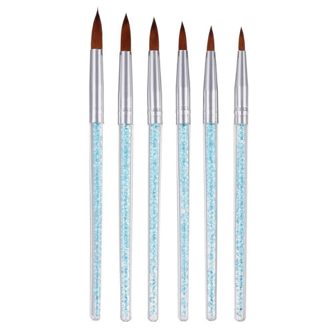 Image of Acrylic Brushes, Rhinestone Handles, 6 Piece Set