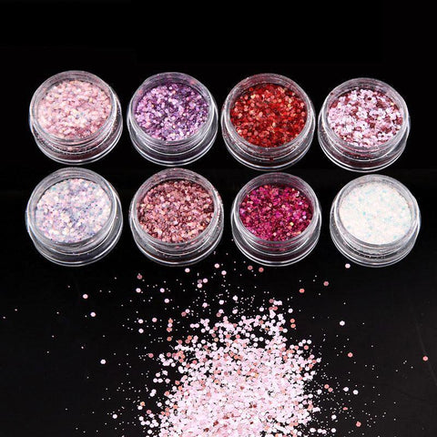 Image of Girly Glitter Mix, 8 Jar Set