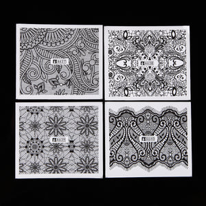 Lace & Floral Water Transfer Decals, 24 Sheets