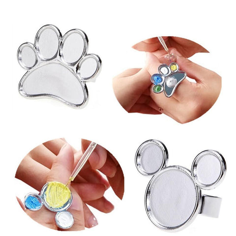 Paint Palette Finger Ring, 1 Piece