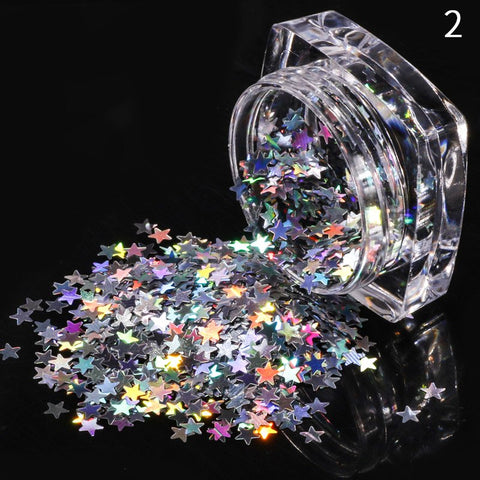 Image of Holo Silver Sequins Mix, 9 Jar Set