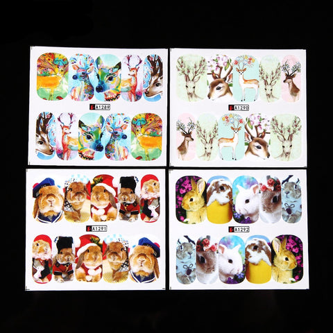 Animal Water Transfer Decals, 24 Sheets