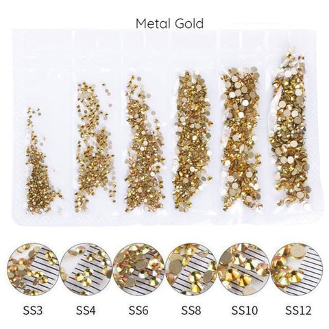 Mega Pack Rhinestones, Metal Gold