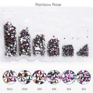 Mega Pack Rhinestones, Rainbow Rose