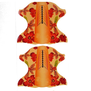 Orange Flower Nail Forms, 100 Pieces