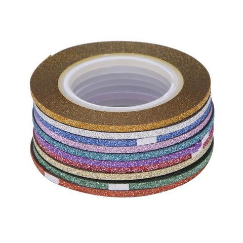 Image of Glitter Striping Tape, 10 Rolls