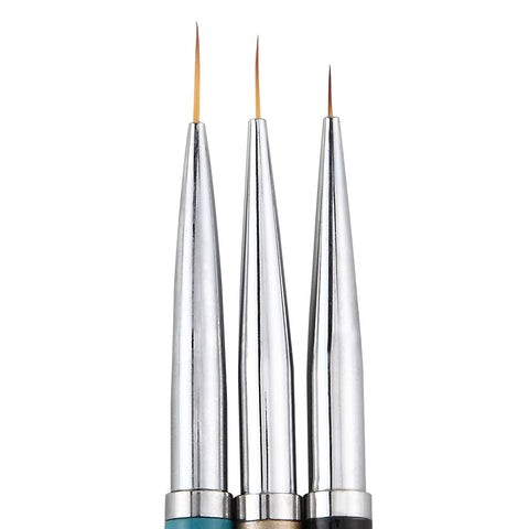 Liner Brushes, Metal Handles, 3 Piece Set