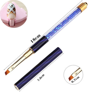 Flat Angle Brush, Rhinestone Handle