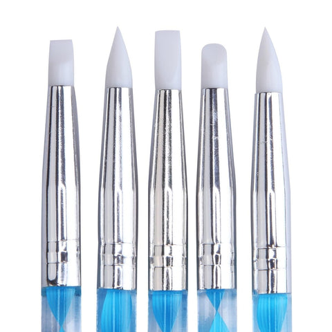 Dual Silicone and Dotting Tool Set, 5 Pieces