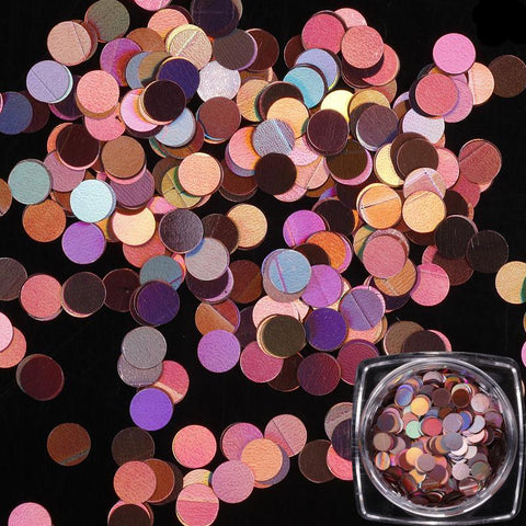 Image of Holographic Round Sequins, 12 Jar Set