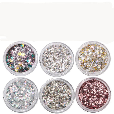 Metallic Essential Glitters, 6 Jar Set