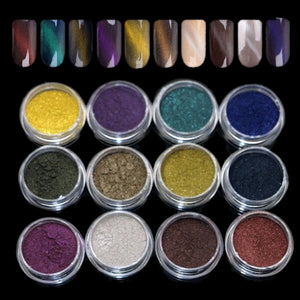 Cats Eye & Pink Pigment Sets, 2 x 12 Jar Sets