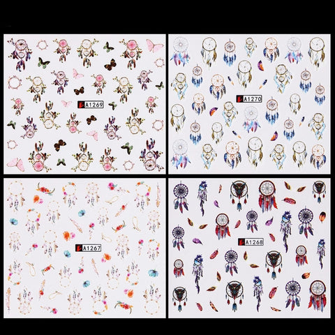 Dreamcatcher Water Transfer Decals, 12 Sheets