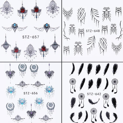 Assorted Water Transfer Decals, 40 Sheets