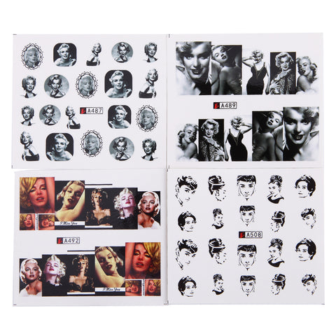 Female Icons Water Transfer Decals, 50 Sheets