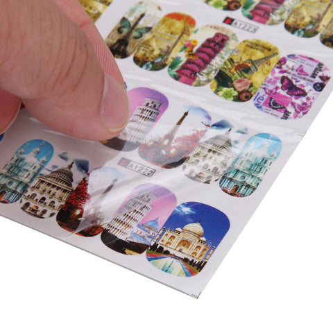Eiffel Tower Water Transfer Decals, 12 Sheets