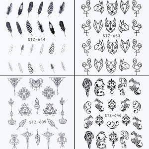 Assorted Water Transfer Decals, 24 Sheets