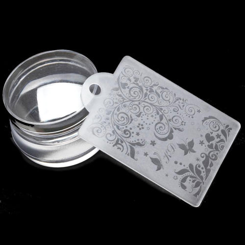 Image of Short Transparent Stamper & Mini Plate