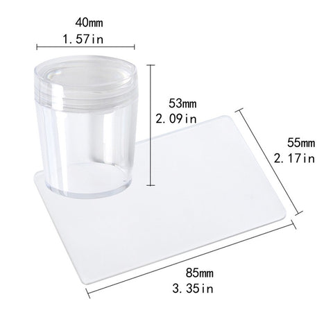 Large Transparent Stamper & Scraper