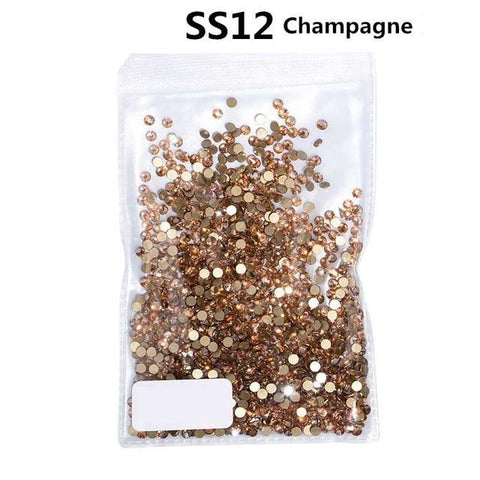 Image of Flatback Rhinestones, Champagne, 1440 Pieces, 1 Size