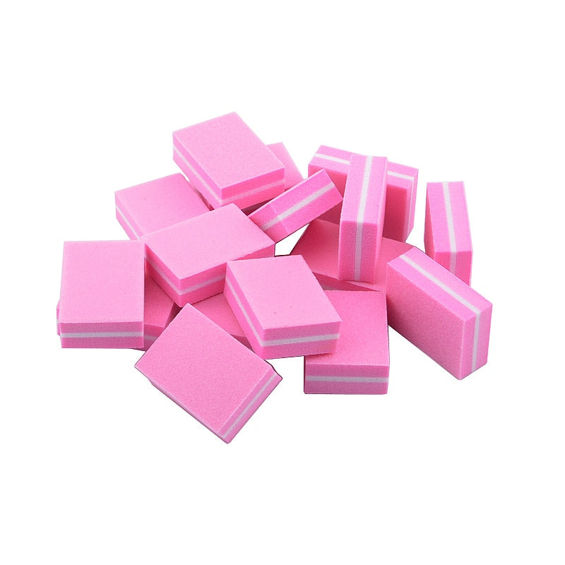 Mini Buffers, Pink, 100 Pieces