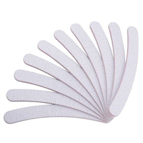 Curved Nail File 100/180, 10 Pieces