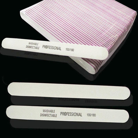 Image of Nail Files, White, 100/180, 50 Pieces