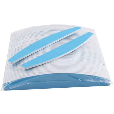 Image of Half Moon Nail Files, Blue, 180/180, 25 Pieces