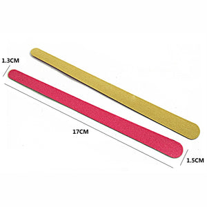 Thin Wood Nail Files, Purple 150/150, 100 Pieces