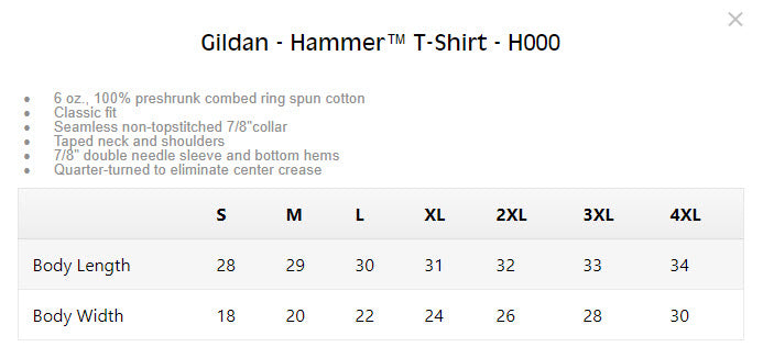 garment spec example image