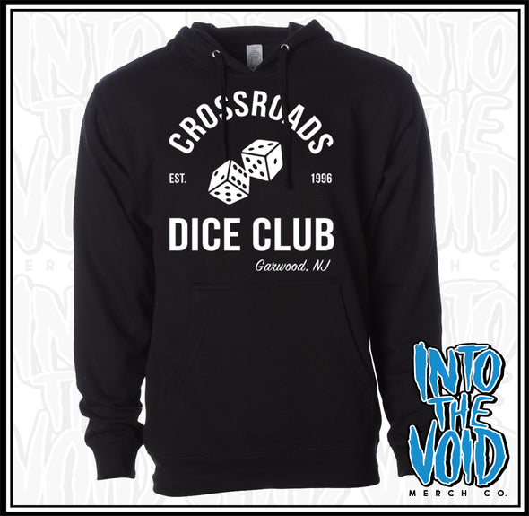 CROSSROADS - DICE CLUB - Men's Black Pullover Hoodie