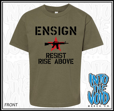 ENSIGN - RESIST / RISE ABOVE - Short Sleeve T-Shirt