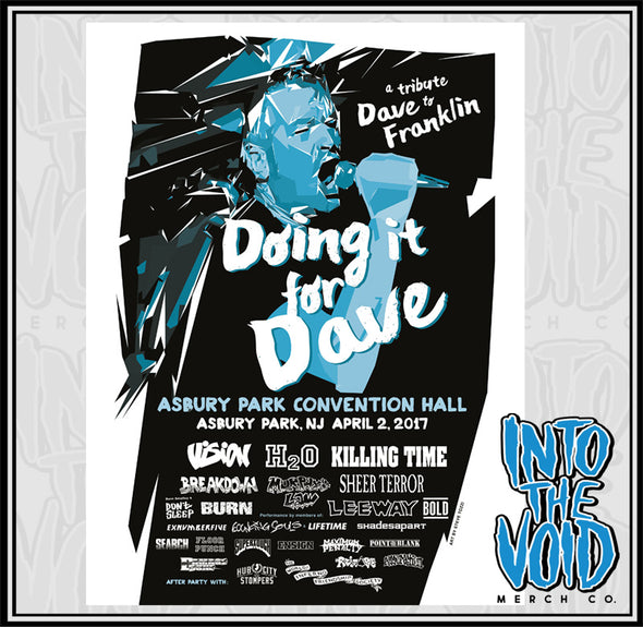"VISION - ""DOING IT FOR DAVE"" Show Poster"