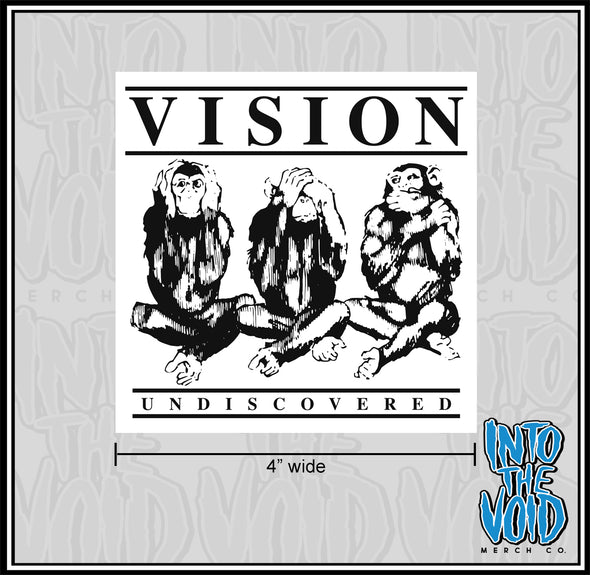 "VISION - 4"" UNDISCOVERED Sticker"