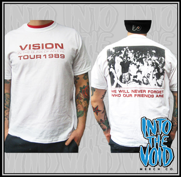 "VISION - ""IN THE BLINK OF AN EYE"" TOUR '89 - Men's Short Sleeve T-Shirt"