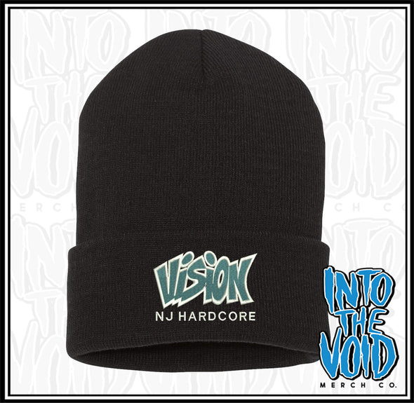 VISION - NJ HARDCORE - EMBROIDERED CUFFED BEANIE