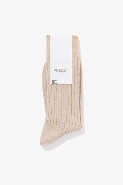LWC SOCK - CREAM MELANGE