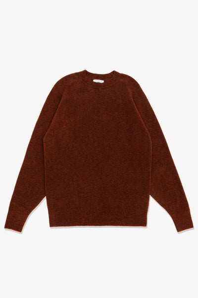 LA RAGLAN KNIT SWEATER - RED OCHRE