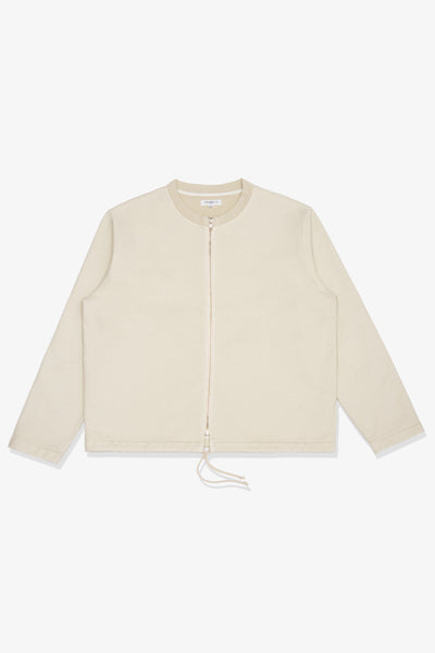 ZIP CARDIGAN - BONE