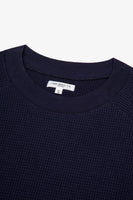 CROPPED RAGLAN THERMAL - NAVY