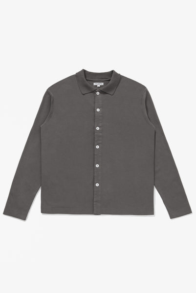 L/S PLACKET POLO - CEMENT