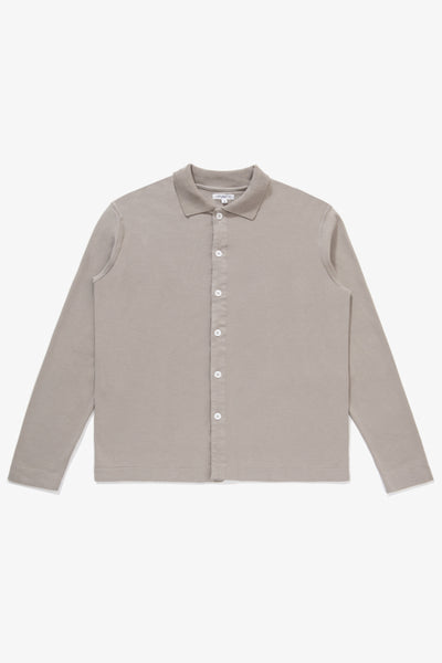 L/S PLACKET POLO - TAUPE FOG