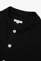 S/S PLACKET POLO - BLACK