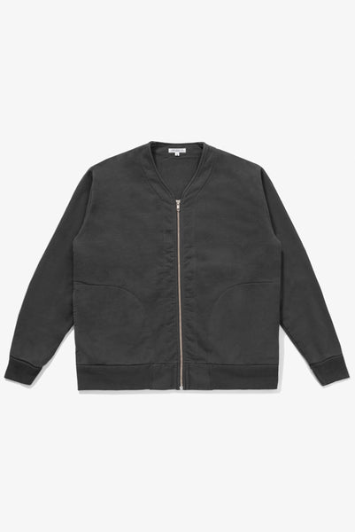 LAYERED ZIP JACKET - FADED BLACK