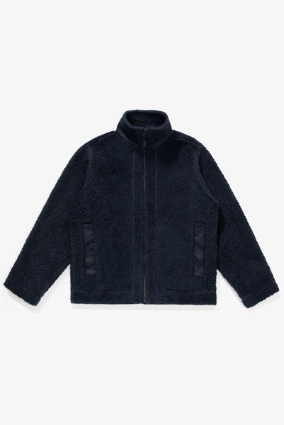 ZIP FLEECE JACKET - NAVY