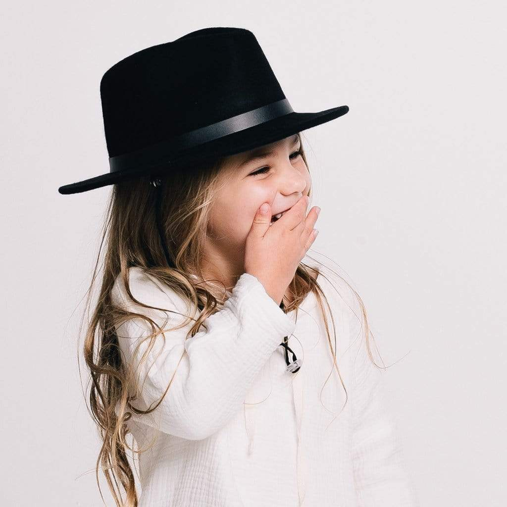 Wool Wide Brim Charlie Black Kids