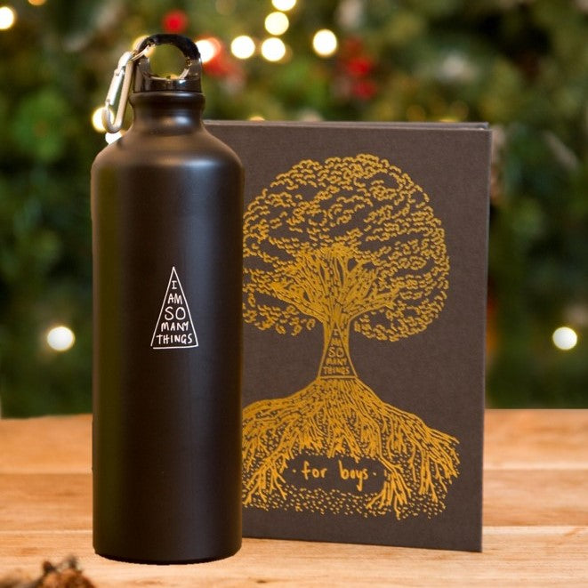Boy's Book and Resusable Water Bottle
