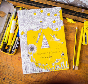 Colouring Book and Yellow Mug
