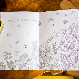 Girl's Book & Colouring Book